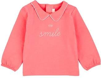 "Billieblush INFANTS' ""SMILE"" COTTON-BLEND T-SHIRT"