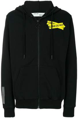 Off-White zipped fire tape hoodie