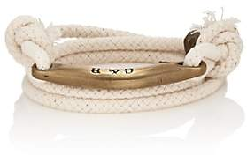 Giles and Brother Men's Rope Wrap Bracelet-White