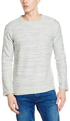 New Look Men's Space Dye Crew Jumpers,(Manufacturer Size:M)