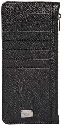 Dolce & Gabbana Dauphine Leather Card Holder W/ Pockets