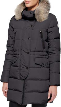 Moncler Fragonette Fur-Trim Puffer Coat
