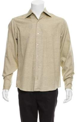 Malo Woven Button-Up Shirt