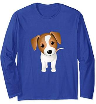 Jack Russel Terrier Puppy Dog Long Sleeve Shirt