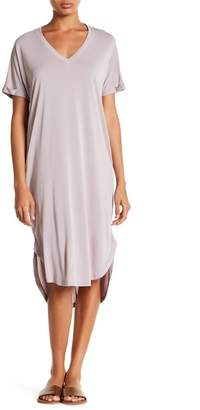 Lush V-Neck Cupro Dress