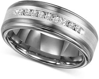 Triton Men's Diamond Wedding Band in Tungsten Carbide (1/4 ct. t.w.)