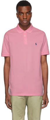 Polo Ralph Lauren Pink Stretch Mesh Polo