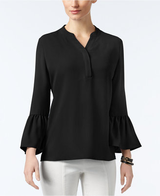 Alfani Y-Neck Bell-Sleeve Blouse, Only at Macy's $69.50 thestylecure.com