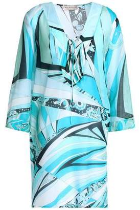 Emilio Pucci Printed Cotton And Silk-Blend Mini Dress