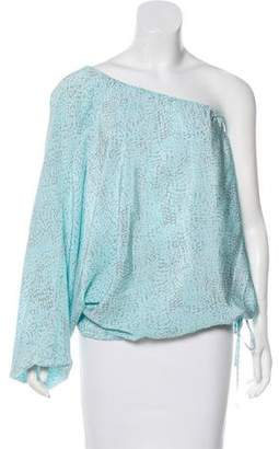 Rachel Zoe One-Shoulder Silk Blouse