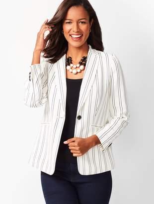 Talbots Crepe Stripe Jacket