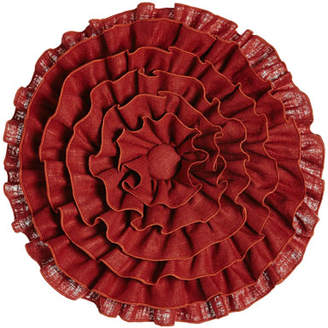 Sherry Kline Home Fresco Round Ruffle Pillow