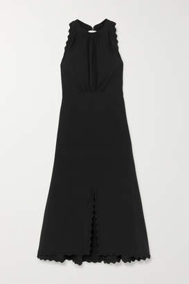 Chloé Scalloped Cady Midi Dress - Black