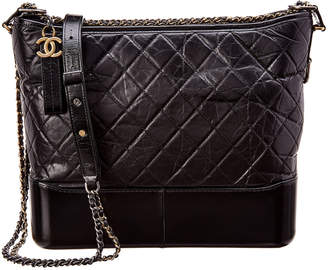 c89840754cda Chanel Black Quilted Lambskin Leather Gabrielle Hobo
