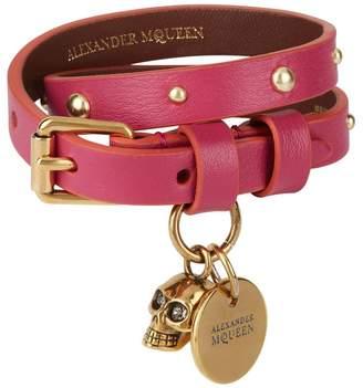 Alexander McQueen Studded Double Wrap Bracelet
