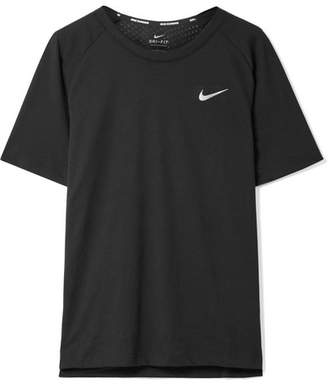 Nike Tailwind Perforated Dri-fit Stretch-jersey T-shirt - Black