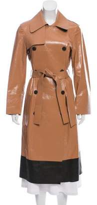 Calvin Klein Collection Leather Trench Coat