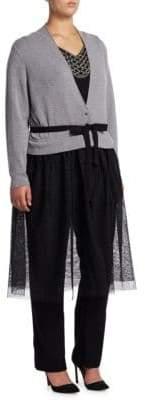 Nic+Zoe Plus Plus Women's Plus Tulle Time Cardigan - Grey - Size 3X (22-24)
