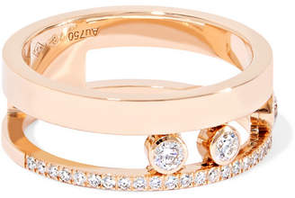 Messika Move Romane 18-karat Rose Gold Diamond Ring - 52