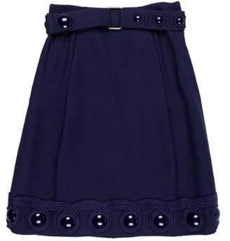 Marc Jacobs Wool Embellished Dress Navy Wool Embellished Dress
