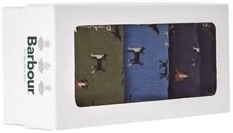 Barbour Dog Pattern Socks (Pack of 3)