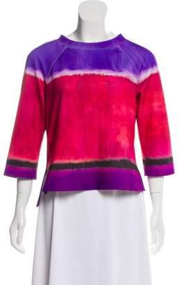 Alberta Ferretti Printed Long Sleeve Top
