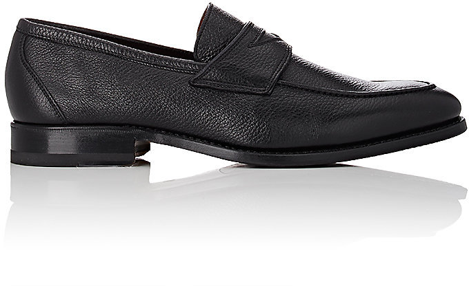 Barneys New YorkBarneys New York BARNEYS NEW YORK MEN'S APRON-TOE PENNY LOAFERS