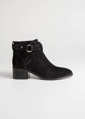 And other stories Heeled Suede Ankle Boots
