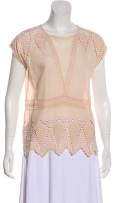 Ulla Johnson Embroidered Lace Top