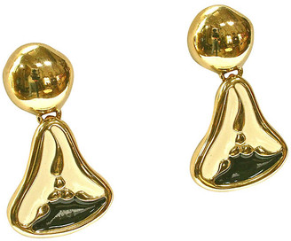 One Kings Lane Vintage Givenchy Gold Plated Abstract Earrings - Wisteria Antiques Etc