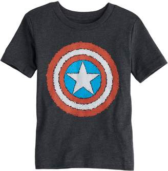 Toddler Boy Jumping Beans Marvel Captain American Scribble Shield Graphic Tee