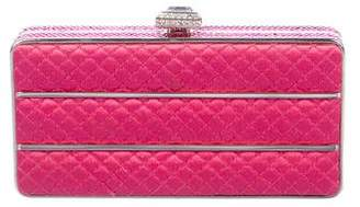 Judith Leiber Embellished Quilted Satin Box Clutch