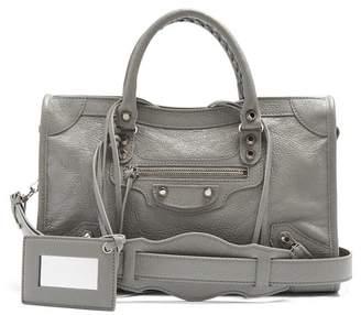 Balenciaga Classic Metallic Edge City S Bag - Womens - Light Grey