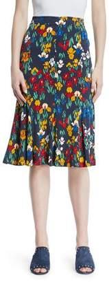 Tory Burch Jada Floral-Print Jersey Skirt