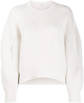 Givenchy oversized sleeves crew neck jumper
