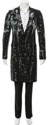 Alexander McQueen 2010 Wool-Blend Jacquard Jacket