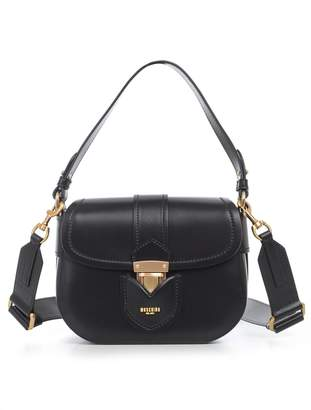 Moschino Front Flap Shoulder Bag