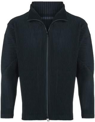 Issey Miyake Homme Plissé ribbed-style zip up jacket