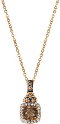 LeVian Le Vian Women's Chocolatier® Chocolate Diamond® & Strawberry Gold® Pendant Necklace