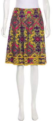 Naeem Khan Silk Embroidered Skirt