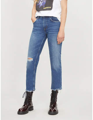 Cheap Monday Revive high-rise distressed slim-fit jeans