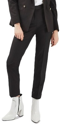 Women's Topshop Premium Tapered Suit Trousers $68 thestylecure.com
