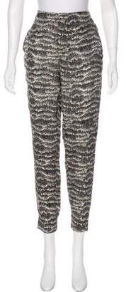 Rag & Bone High-Rise Silk Joggers