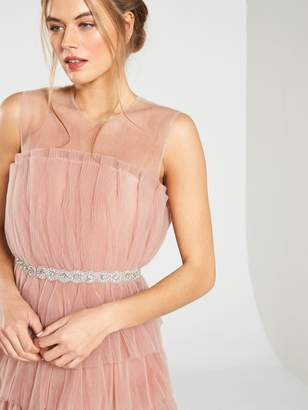 Forever Unique U Collection Ruffle Midi Dress