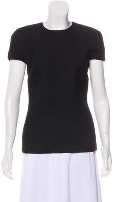 Bottega Veneta Virgin Wool Short Sleeve Top