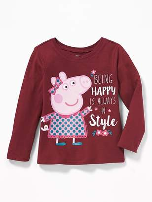 """Old Navy Peppa Pig """"Being Happy Is Always in Style"""" Long-Sleeve Tee for Toddler Girls"""