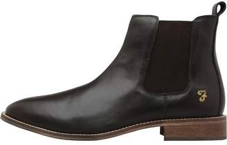 Farah Mens Kirk Leather Chelsea Boots Brown