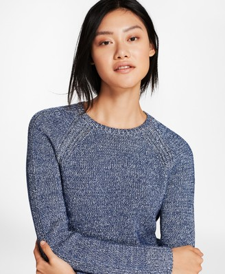 Brooks Brothers Marled Cotton-Blend Sweater