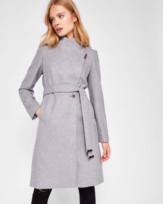 KHERA Wool-cashmere wrap coat