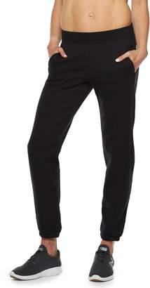 Tek Gear Women's Fleece Banded Bottom Mid-Rise Sweatpants